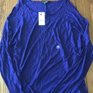 Express Tops - NWT Express shirt with cut-out sleeves